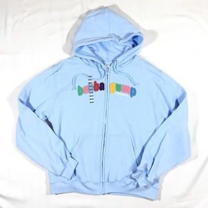90's Movie - NEW Bubba Gump Shrimp Co Zip Hoodie MNWT for sale